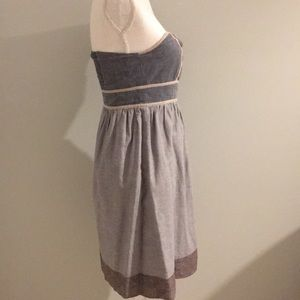 Francesca's Collections Dresses - Francesca's Emmelee Chambray Sweetheart Dress